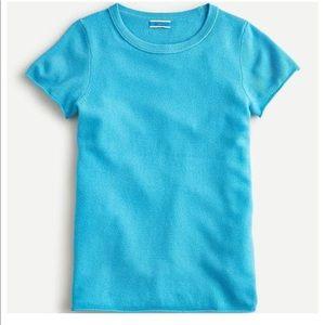 J Crew Cashmere Short Sleeve T-Shirt Blue M